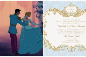 and the beast wedding invitations cinderella inspired wedding invites plus 6 more disney princess