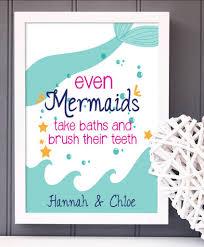 Hypolita Love Anchors The Soul - mermaid bathroom print a great print for any little mermaid s