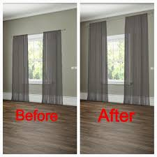 Hanging Curtains High And Wide Designs How To Properly Hang Drapes Sugar Cube Interior Basics Home