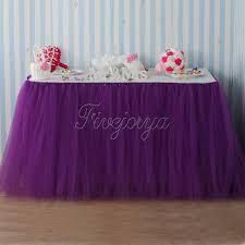 purple tulle aliexpress buy purple tulle tutu table skirt for wedding