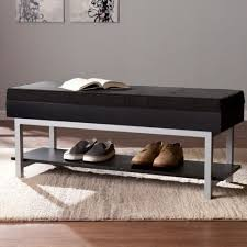 Upholstered Entryway Bench Cottage Storage Bench Cabinet Entryway Shoe Organizer Furniture
