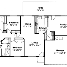 4 bedroom ranch style house plans ranch style house plan 4 beds 2 baths 1720 sq ft plan 1 350 floor