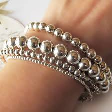 stacking bracelets a stunning silver bead bracelet set of 4 available to buy on my