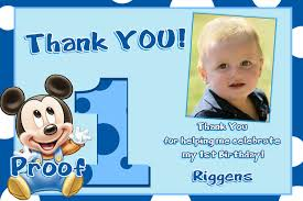 Mickey Mouse 1st Birthday Card Card Invitation Design Ideas Zoom Blue Design Mickey Mouse With