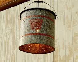 galvanized minnow hanging light repurposed diy craft