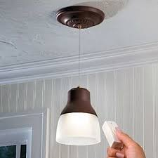 Kitchen Sink Lighting by Wireless Led Fabric Pendant Light Battery Operated Includes