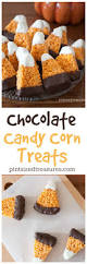 chocolate dipped candy corn rice crispy treats recipe candy