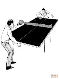 table tennis coloring pages free coloring pages