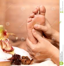 massage of human foot in spa salon stock photography image 27705692
