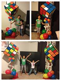 ginormous rubik u0027s cube decorations for 80 u0027s themed party keep