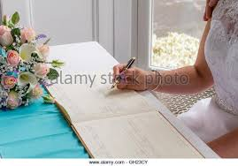 wedding signing wedding signing register stock photos wedding signing register
