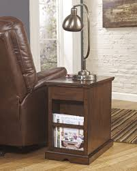 buy ashley furniture laflorn medium brown chair side end table