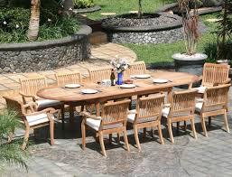 outdoor u0026 garden 6 piece weathered teak outdoor patio furniture