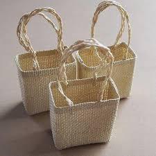 burlap gift bags woven straw burlap tote gift bags sinamay 12