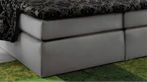 B O Schreibtisch Grau Atlanta Stoff Grau 180x200 Cm Mit Topper