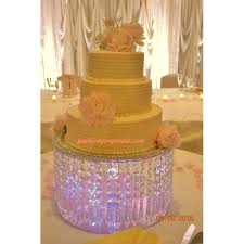 cake stand wedding wedding cake stand with crystals chandelier acrylic also