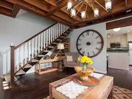 using wall clock for home decoration ward log homes