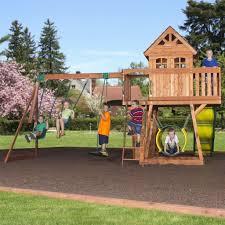 cedar view wooden swing set swing set backyard discovery