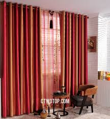 and orange striped custom cheap blackout long curtains