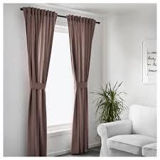 Ikea Ritva Curtains Ingert Curtains With Tie Backs 1 Pair Brown 145x250 Cm Ikea