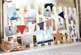 craftiments beach fence and sailboat summer mantel