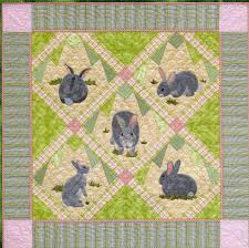 quilt pattern rabbit tracks spring decor easter decor bunny