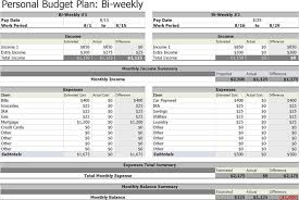 personal weekly budget template budget template free
