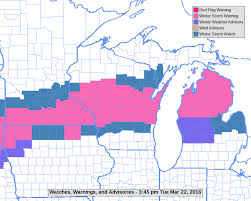 Lacrosse Wisconsin Map by Winter Storm Of March 23 24 2016