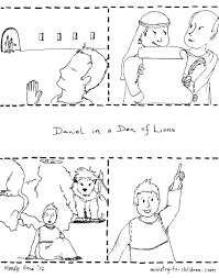 daniel coloring page for kids free bible printable with pages