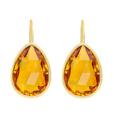 citrine earrings betteridge goshwara pear shaped citrine drop earrings 10 58 ct