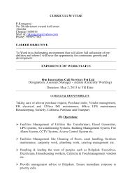 Cctv Experience Resume Kanagaraj Resume