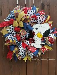 snoopy ribbon 26 peanuts snoopy woodstock spiral mesh everyday wreath in