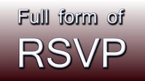 full form of rsvp youtube