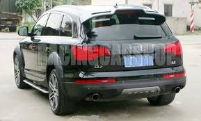 painted a sytle trunk roof spoiler fit for audi q7 2007 2012 a050f