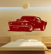 large car sticker for ford mustang 1969 muscle classic wall art