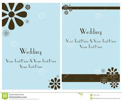 set wedding invitation card 2 royalty free stock photos image