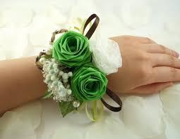 Wrist Corsage Supplies Forest Custom Origami Wrist Corsage 23 00 Via Etsy