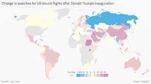 United States Travel Map by The Trump Effect On Travel To The United States U2014 Quartz