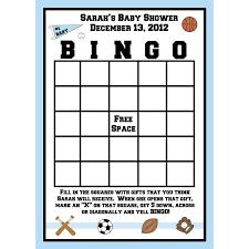 24 bingo cards for baby shower sport theme
