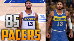 jersey design indiana pacers nba 2k16 1985 indiana pacers jersey court tutorial youtube