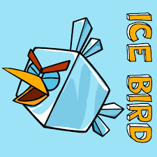 draw ice bird angry birds space easy step step
