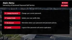University Of Cincinnati Help Desk Password Self Service Pss