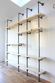Free Standing Wooden Shelving Plans by Best 25 Plumbing Pipe Shelves Ideas On Pinterest Pipe Shelves