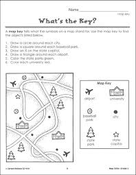 printable map key alluring map worksheets for first graders with map skills worksheets