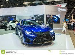 new lexus motors new lexus rc f at the singapore motorshow 2015 editorial stock