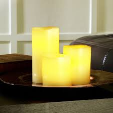 ashland wax touch led pillar candle set