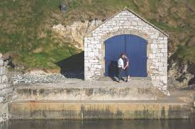 wedding arch northern ireland johann terry ballintoy harbour co antrim northern ireland