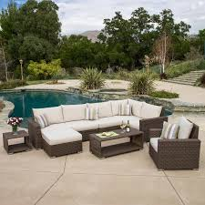 Patio Furniture Manufacturers by Milano 9 Piece Modular Seating Set