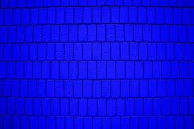 bright blue brick wall texture with vertical bricks picture free