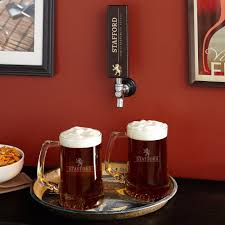 well crafted tap handle with custom beer mugs set of 2
